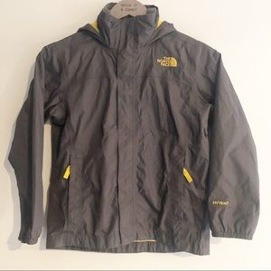 North Face Gray and Yellow Hyvent Jacket Size 7/8